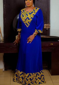 Gorgeous Mide Martins in Royalty Collections for Zanzee Spa: See Photos Modern African Print Dresses, African Dresses For Kids, African Maxi Dresses, African Fashion Ankara, Latest African Fashion Dresses, African Print Fashion, Africa Fashion, African Attire, African Prints