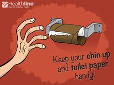 Keep your chin up and toilet paper handy #Crohn's