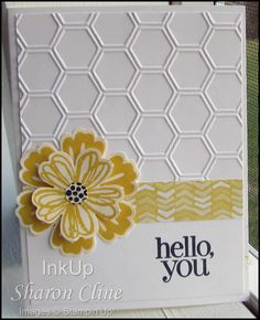 70 Ideas Flowers Shop Embossing Folder For 2019 Handmade Birthday Cards, Greeting Cards Handmade, Hexagon Cards, Embossed Cards, Stamping Up Cards, Cards For Friends, Diy Cards, Paper Cards, Embossing Folder