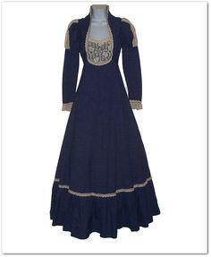 Vintage Late 60s Gunne Sax Denim Crochet Dress by calicovintage, $152.00