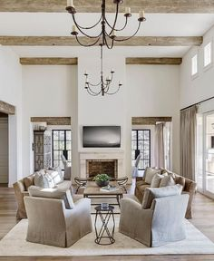 These high ceilings make this room look huge!