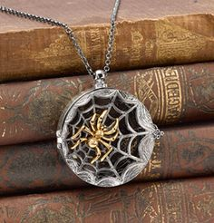Spiderweb Magnifier Pendant for Halloween or Samhain
