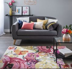 Buy Villa Watercolour Floral Rug at Carpetright, the UK's leading carpet, flooring and rug retailer. Buy from our new range of great value online exclusive rugs today. Decor, Furniture, Watercolor Rug, Love Seat, Pink Rug, Floral Rug, New Homes, Home Decor, Inspiration