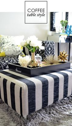 Adore Home Magazine Blog Coffee Table Styling Fabric Tray