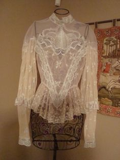 Victorian Lace Blouse - I love everything about this blouse, preferably in white.