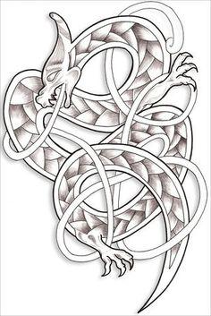 Dragon celtique... Pour mon mari 686