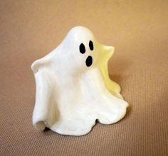 Easy polymer clay ghost ... cute