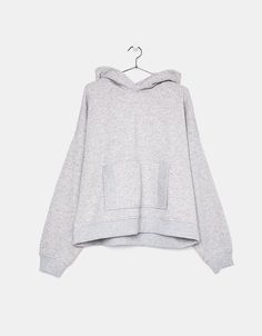 Embroidered oversized grey sweatshirt - Bershka #embroidered #oversized #grey #sweatshirt #bershka