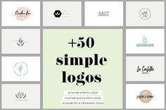 +50 Simple Logos Templates by Anis Illustration on @creativemarket
