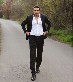 I've been collecting photos of this hottie all year. This is the image that started it all: Some women lost their minds because this guy. Beautiful Men Faces, Gorgeous Men, Beautiful People, Beautiful Scenery, Dusan Susnjar, Handsome Actors, I Am Game, Good Looking Men, Men Looks