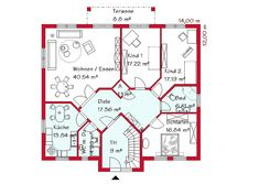 1000 images about living floor plan on pinterest haus for Zweifamilienhaus plan