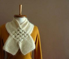 Shining Cream Neckwarmer by SistersandStories on Etsy