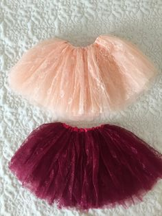 Beautiful Burgundy and Peach Lace Tutus for Children by RosaGlam