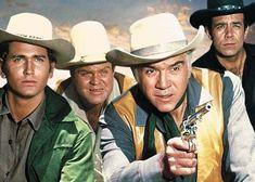 Little Joe, Hoss, Ben and Adam Cartwright Ready For Action.
