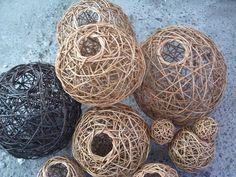 esferas de mimbre decoracion