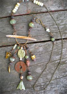 Lucid Dreaming Shaman Amulet Necklace by maggiezees on Etsy, $95.00
