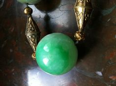 old chinese court necklace jade big beads in a necklace | Collectors Weekly