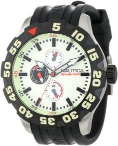 Nautica Men's N16509G BFD 100 Multifunction Luminous Dial Watch at http://suliaszone.com/nautica-mens-n16509g-bfd-100-multifunction-luminous-dial-watch/