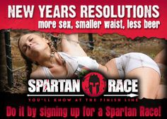 No go on the less beer, but I'll take the more sex, smaller waist and a Spartan Race!