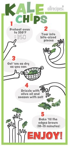 it's real easy to make tasty kale chips