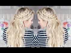HOW TO: Keep Exentensions From Showing and a Mixed Braids Tutorial - YouTube