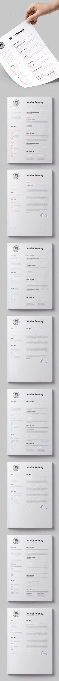 Professional Resume Template - Word \ Page Compatible - Best CV - free cover letter builder