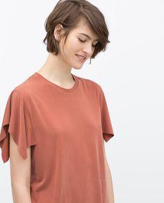 Image 2 of KIMONO SLEEVE T-SHIRT from Zara