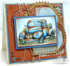 """by Suzanne Dean - Masculine Card - digi stamp from """"Fred she said"""""""