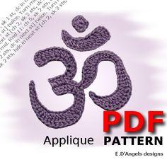 OM Symbol Crochet pattern applique by LassCrochet on Etsy