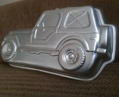 A Jeep cake pan. I so want to make my birthday cake with that. :)