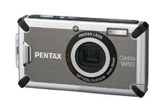 Pentax Optio W80 Waterproof 12.1MP Digital Camera with 5x Wide Angle Triple Shake Reduction Optical Zoom and 2.5 inch LCD (Gunmetal Gray) - ...