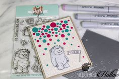 Yeti or Not! Neat And Tangled, Card Making Tutorials, Shaker Cards, Christmas Is Coming, Cute Cards, Paper Piecing, Hedgehog, Craft Projects, Christmas Cards