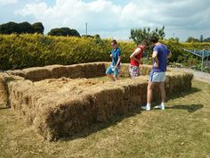 Irish swimming pool - Imgur  (How to build a soaking pool out of bails of hay.)