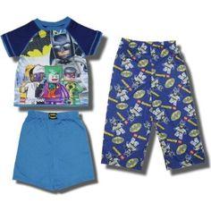 Lego Batman `Evil Forces` 3 piece short-sleeve pajama set for boys