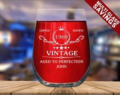 ENGRAVED WINE GLASS Custom Print Design Birthday Wine | Etsy Birthday Wine Glasses, Funny Wine Glasses, Stemless Wine Glasses, Wine Images, Personalized Wine Glasses, Personalized Gifts, Gifts For Wine Lovers, Print Design, Husband Wife