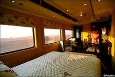 Travel -India - Train compartment on Royal Rajasthan on Wheels @Gretacalla