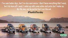 #ThankfulThursday #Trucks #Truckin #TruckLife www.supertruckparts.com #supertruckparts #semitrucks #trucklife #truckdayeveryday #truckers #truckdrivers
