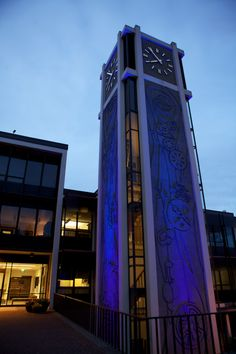 The Demaray Clock Tower - at Seattle Pacific University joined other institutions around the world for the Light it up BLUE camapign for Autism Awareness.