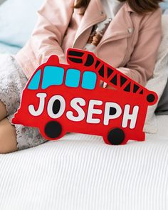Wooden Name Puzzle for Baby Boy Personalized Gift Fire Truck Toddler Gift Idea Boy Nursery Room Decor Baby Shower Gift Toddler Toys Easter Toddler Gifts, Toddler Toys, Jigsaw Puzzles For Kids, Name Puzzle, First Birthday Gifts, Personalized Baby Gifts, Toddler Learning, Fire Trucks, Kid Names