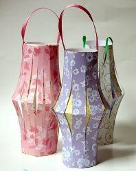 Make Your Own Paper Lanterns #craft by Dollar Store Crafts