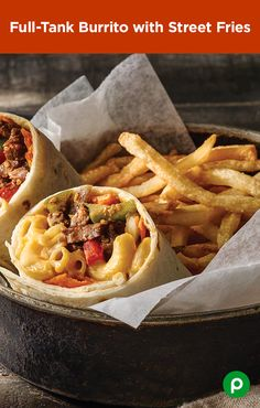 Two kinds of meat and a unique combination of toppings make the Full-Tank Burrito with Street Fries a new family favorite. Find all the ingredients for food-truck fun without the food-truck price at your local Publix.