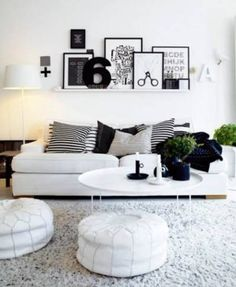 Love everything in this Scandi style living room.