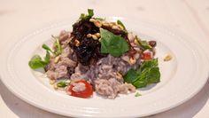 Oesterzwammenrisotto met balsamico-uien - recept | 24Kitchen