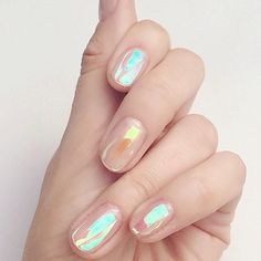 Holographic nails 46 Unique Nail Art Design that is Different from the Others Holloween Christmas Nail Art Water Decals Transfer Stickers Manicure Decor DIY -. Cute Nails, Pretty Nails, Hair And Nails, My Nails, Opal Nails, Opal Nail Polish, Mermaid Nail Polish, Iridescent Nail Polish, Chanel Nail Polish