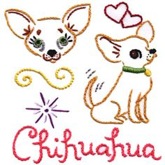Chihuahua pattern that Elizabeth wants to do for a Christmas gift...