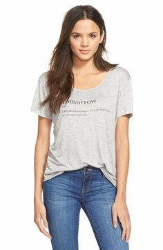 Free shipping and returns on Project Social T 'Tomorrow' Scoop Neck Tee at Nordstrom.com. This soft scoop-neck tee has dropped shoulders, raw edges and a message for procrastinators everywhere.