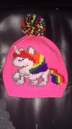 NL crafts: unicorn hat - newfie girl Unicorn Hat, Different Colors, Beanie, Hats, Hat, Beanies, Hipster Hat, Beret