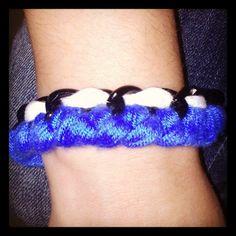 Handmade blue-white bracelet