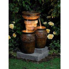 Tuscan Patio Floor Fountain - #55499   LampsPlus.com