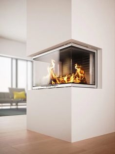 Rais Visio, exceptional design , check them out in store in Wadebridge #rais #fire #stove #wood #burner #inset #three #sided #glass #door #flames #heat #warmth #house #home #interior #design #designer #modern #contemporary #kernowfires #wadebridge #redruth #cornwall